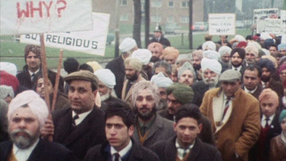 Sikhs striking in Wolverhampton