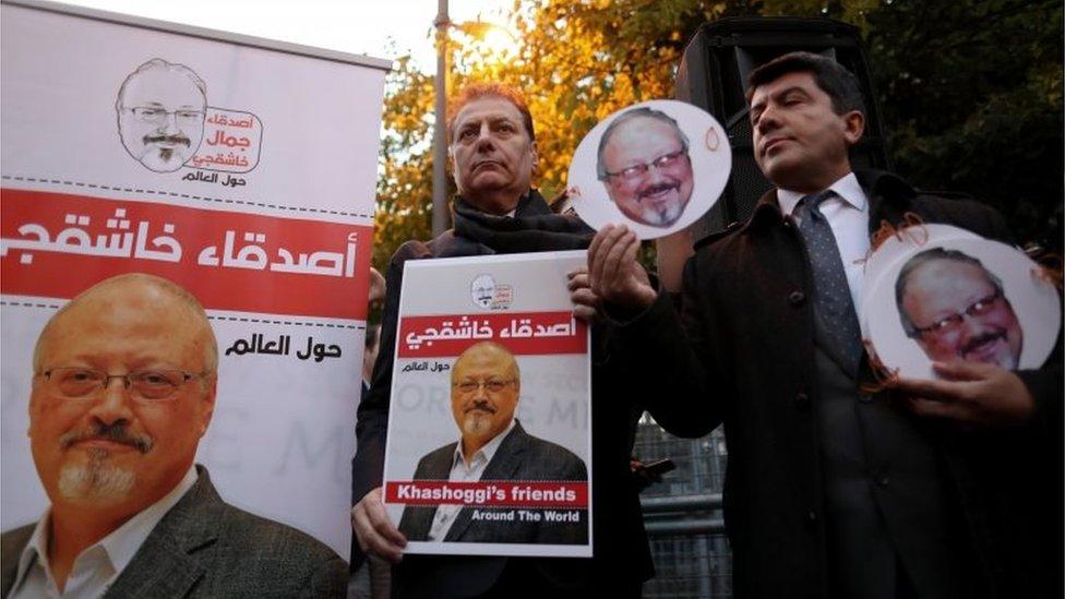 مظاهرة احتجاجا على مقتل جمال خاشقجي