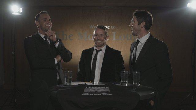 Lee Byrne, Shane Williams, James Hook
