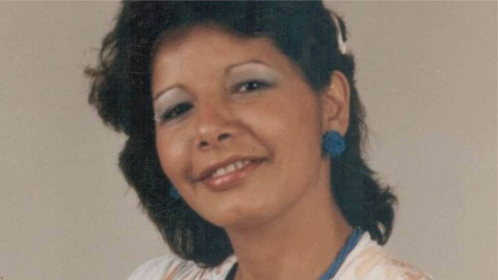 An old photo of Adriana Rivas from the documentary made by her niece, Lissette Orozco