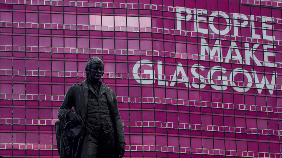 'People make Glasgow' sign