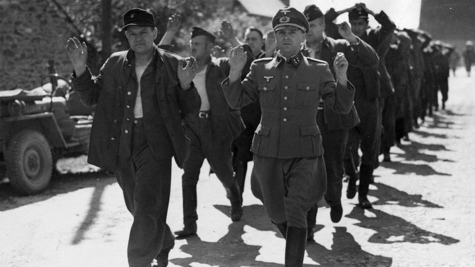 German soldiers surrendering