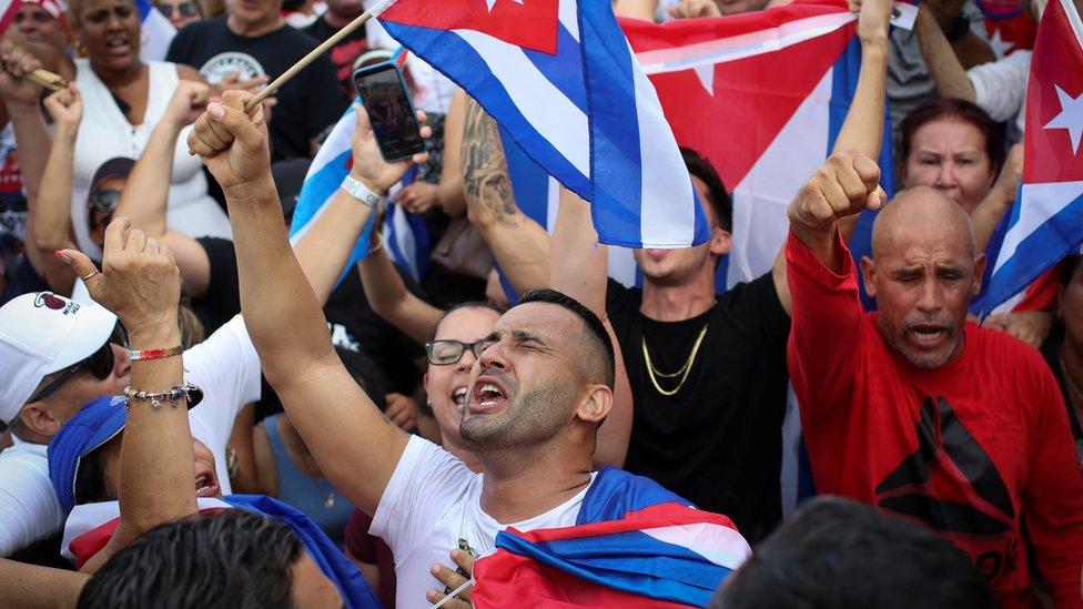 Concentración en La Pequeña Habana, Miami