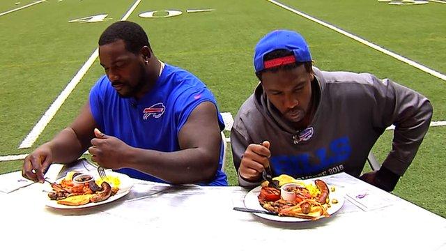 Buffalo Bills v Jacksonville Jaguars: NFL stars try British cooking