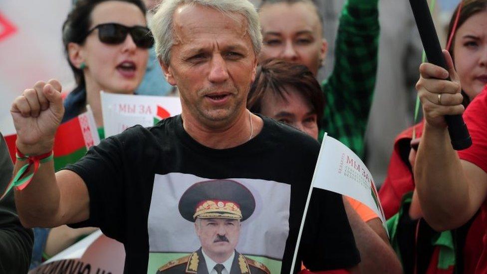Seguidor de Lukashenko.