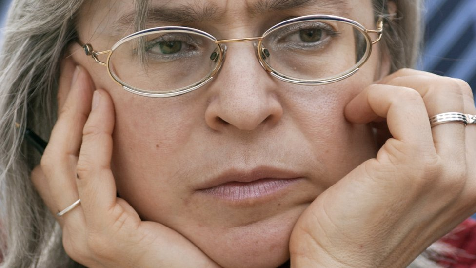 File picture taken 17 March 2005 of Russian human rights advocate, journalist and author Anna Politkovskaya
