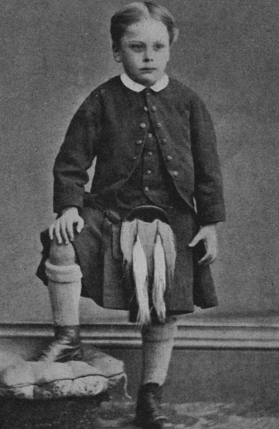 A childhood portrait of Douglas Haig in Edinburgh from about 1870