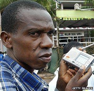 Radio listener in Guinea-Bissau