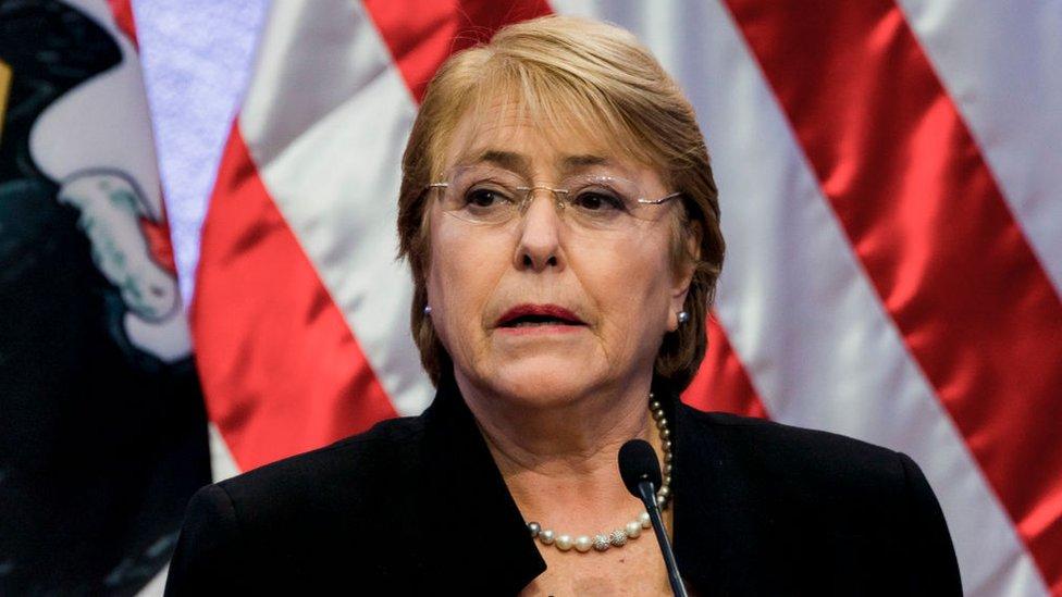 Expresidenta de Chile Michelle Bachelet.