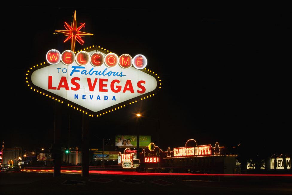 El letrero de Las Vegas