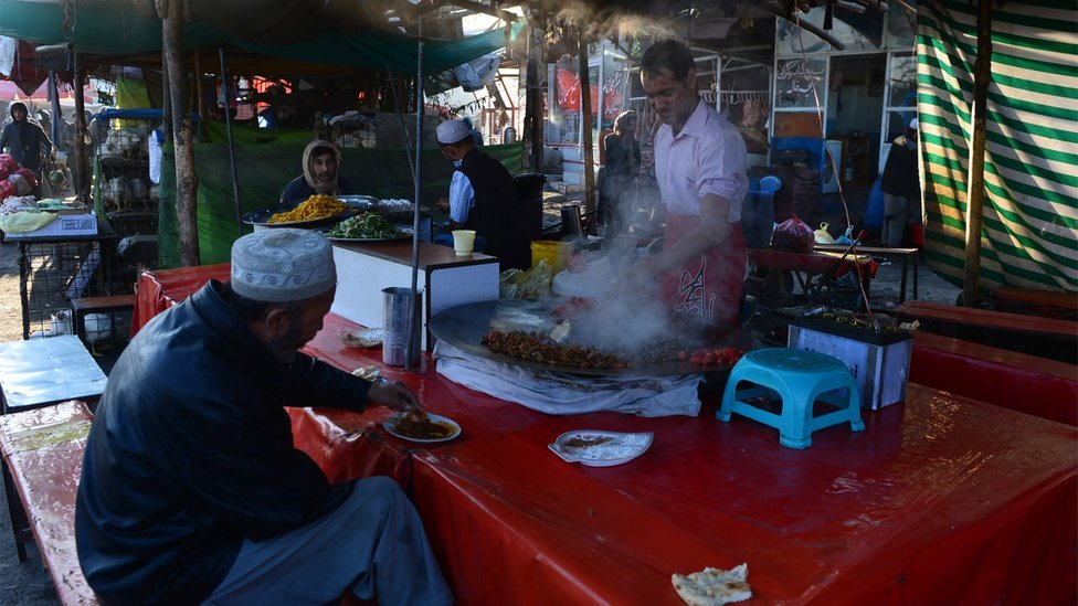 """For most Kabulis """"eating out"""" means a snack at one of the capital's Kebab restaurants"""