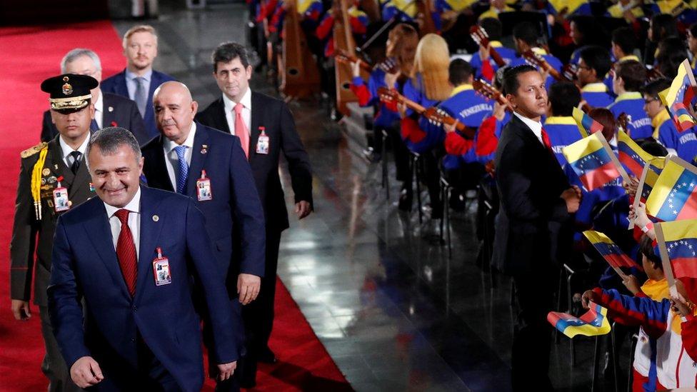 presidente de Osetia del Sur en la toma de posesión de Maduro.