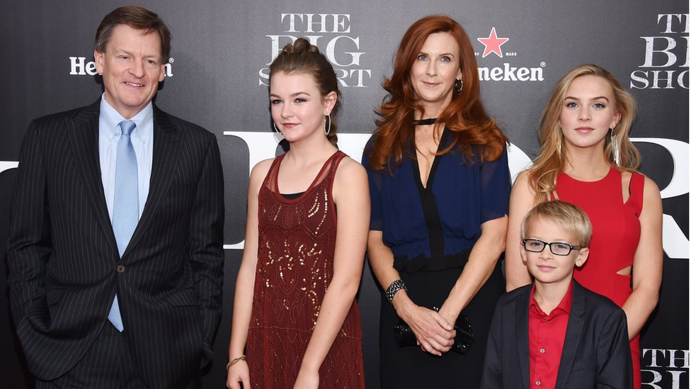 Michael Lewis and his family
