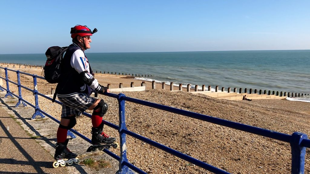 Roller Roy, 82, raises cash for charity in Eastbourne