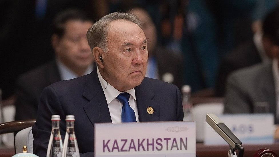 Kazakhstan's President Nursultan Nazarbayev seated during the G20 opening ceremony at the Hangzhou