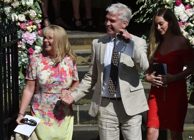 Phillip Schofield and his wife Stephanie Lowe