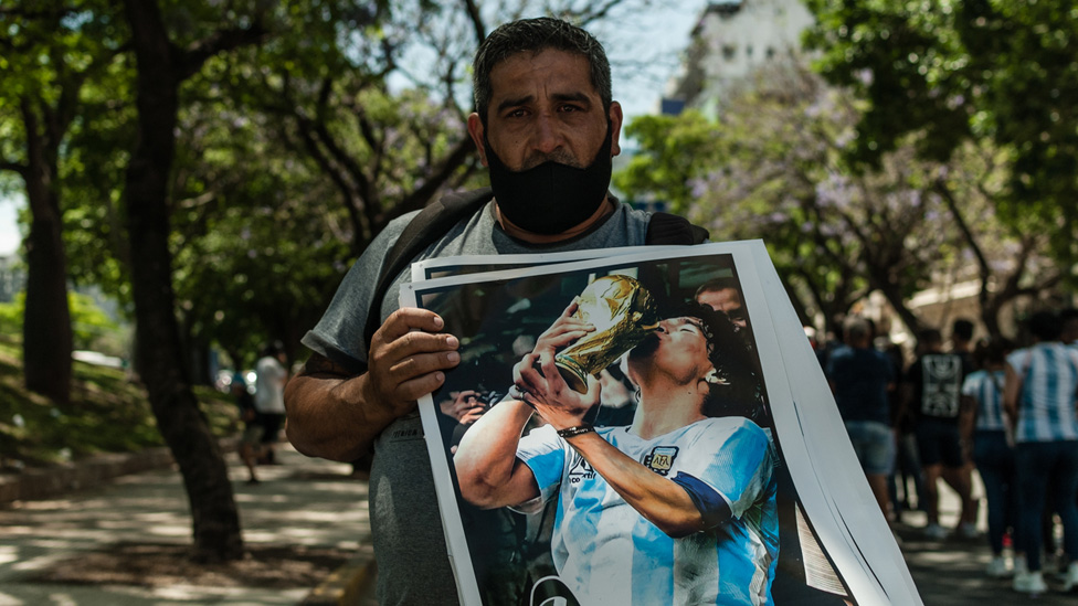 Afiche de Maradona