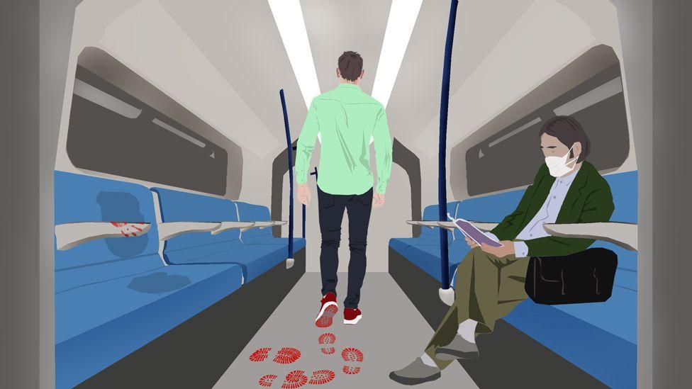 رسم لعربة قطار