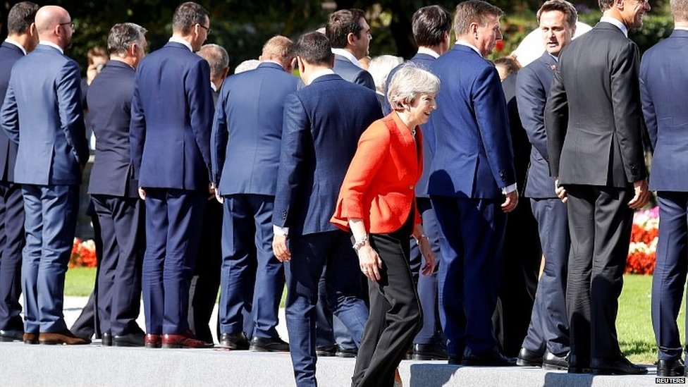 Tereza Mej i lideri EU na samitu u Salcburgu