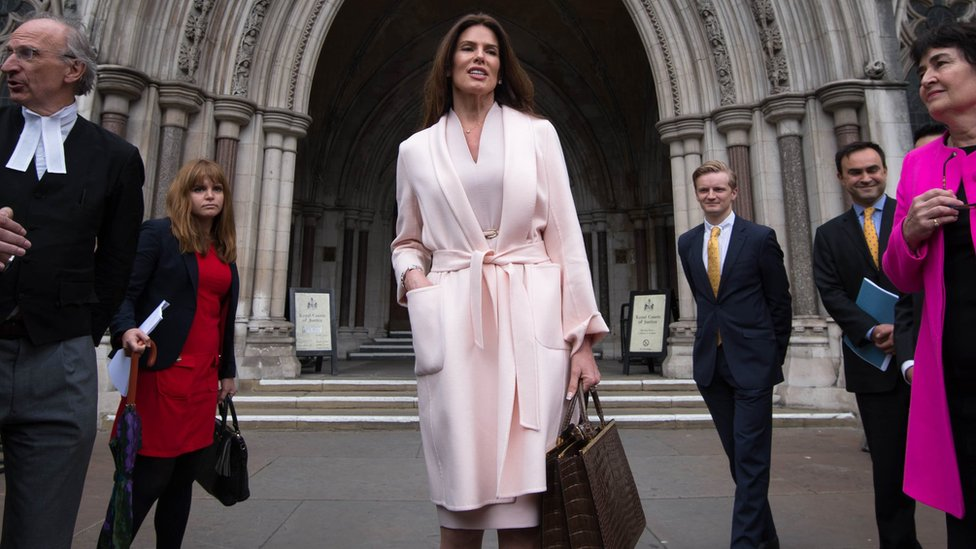 Christina Estrada leaving the High Court in London