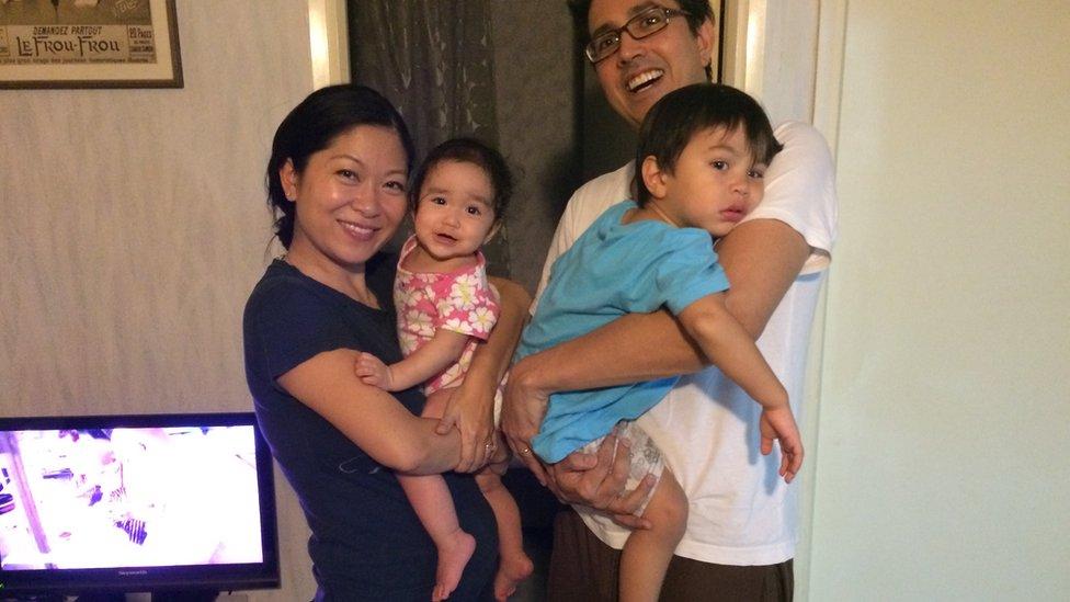 Juliana Liu with her family