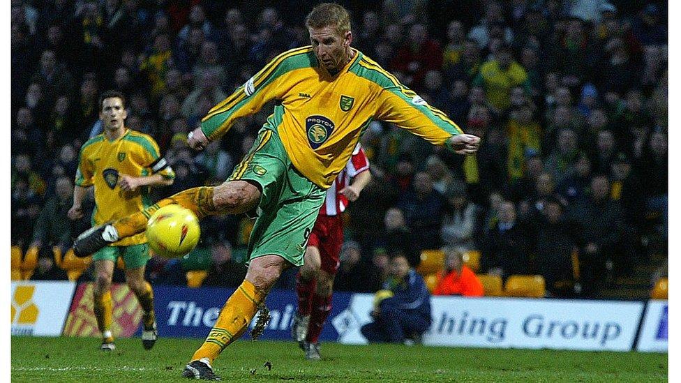 Norwich City striker Iwan Roberts