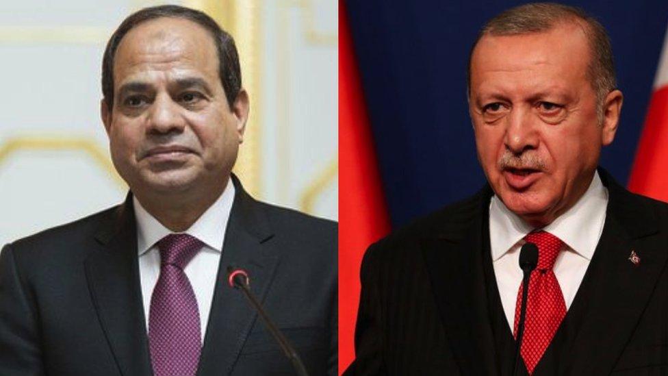 الرئيس التركي رجب طبيب أردوغان والرئيس المصري عبد الفتاح السيسي