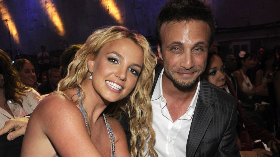 Britney Spears and Larry Rudolph