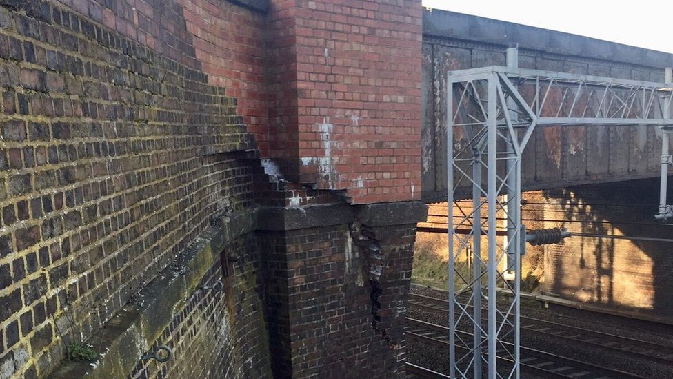 Bridge crash causes Staffordshire rail disruption