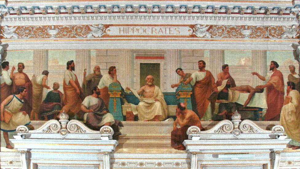 """Herófilo de Calcedonia en """"A Medicina Científica"""" (1906) del artista portugués José Maria Veloso Salgado"""