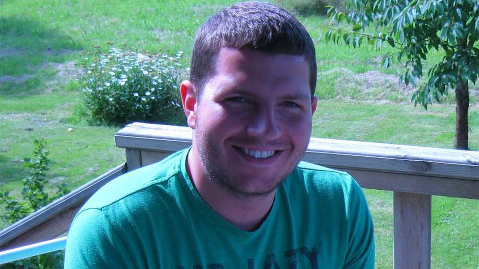 Thomas Leeds después del accidente