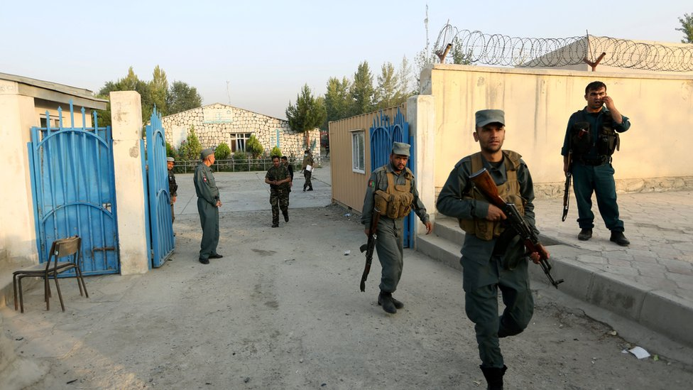 Security installations and guards are the norm at all international installations like Kabul's American University which came under attack in August