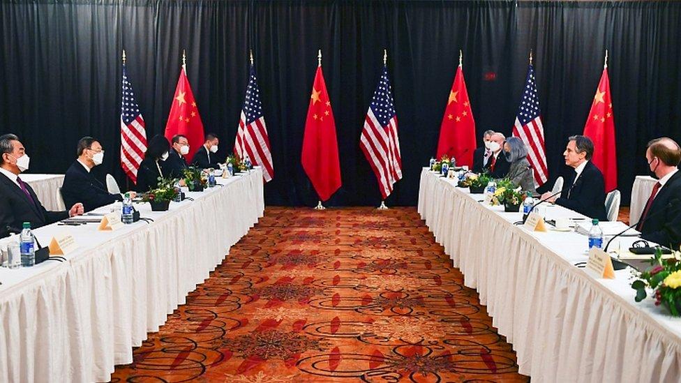 2021年3月18日,中美在阿拉斯加會談