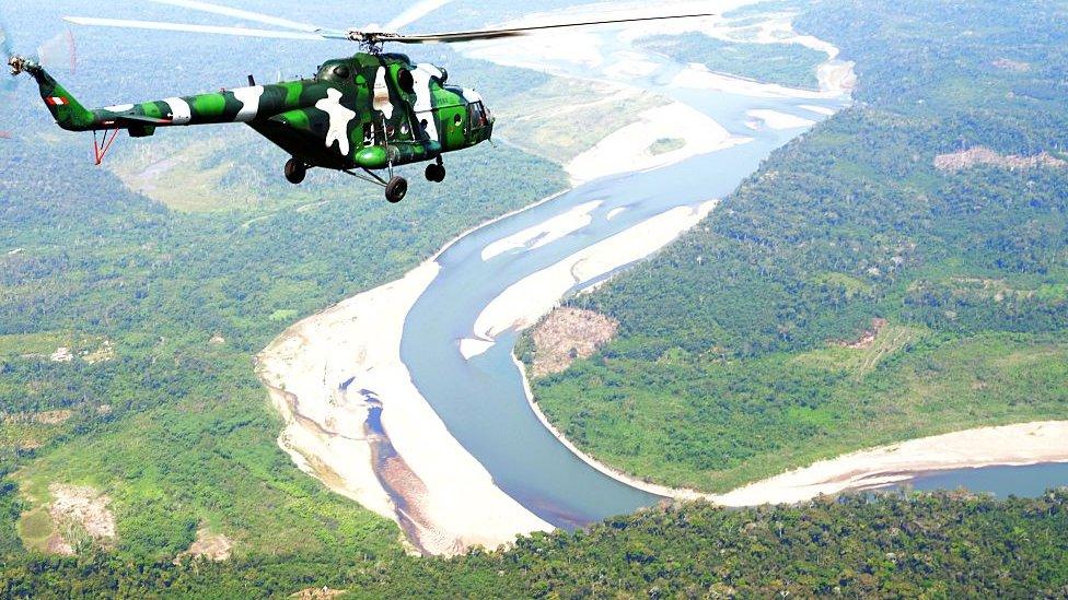 Vista aérea de unos de los ríos que conforman el Vraen.