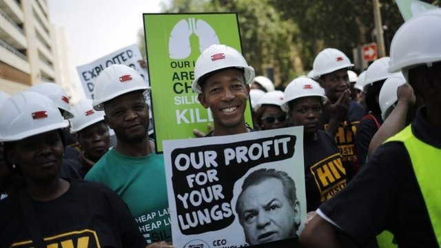 Protesters in Johannesburg - file image