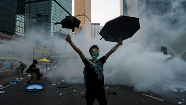 The 2014 umbrella protests paralysed central Hong Kong for almost three months