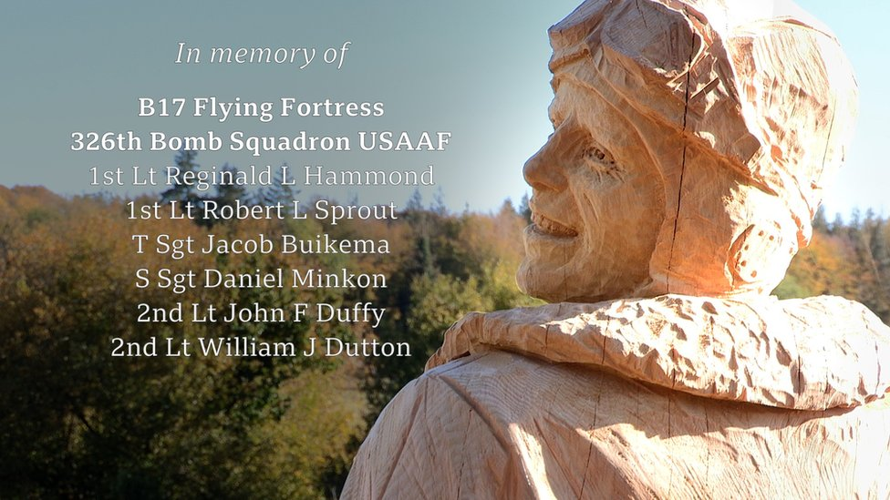 Memorial to those who died at Highclere during WW2