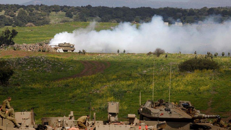 İsrail işgalindeki Golan Tepeleri'ne yakın noktalarda İran Devrim Muhafızı mensubu uzmanlar da bulunuyor.