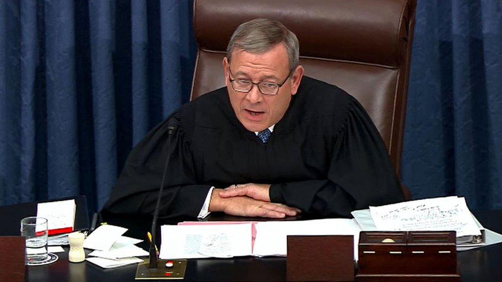 El presidente de la Corte Suprema, John Roberts.