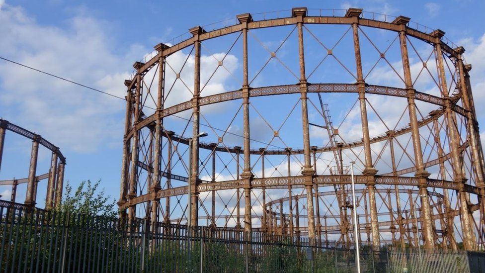 Bromley-by-Bow gasholders, London