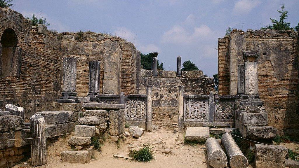Ruinas de los baños de Cládeo, Olimpia.