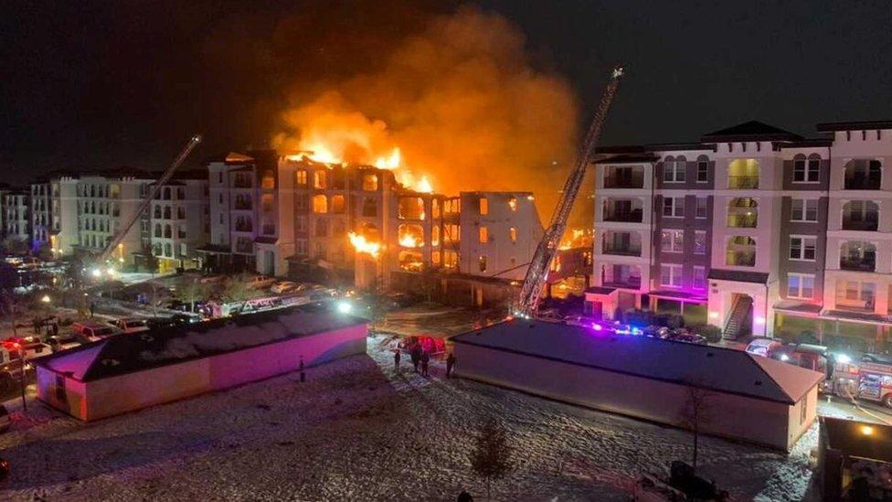 Incendio en San Antonio, Texas
