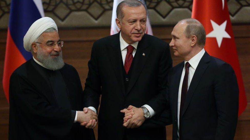 Rohani, Erdogan y Putin