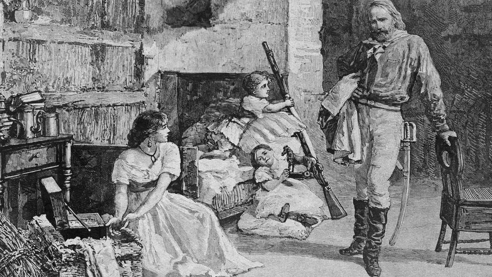 Giuseppe y Anita Garibaldi