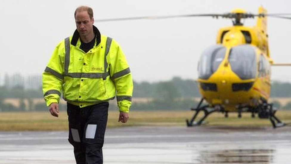 Prince William speaks about 'traumatic' air ambulance callouts