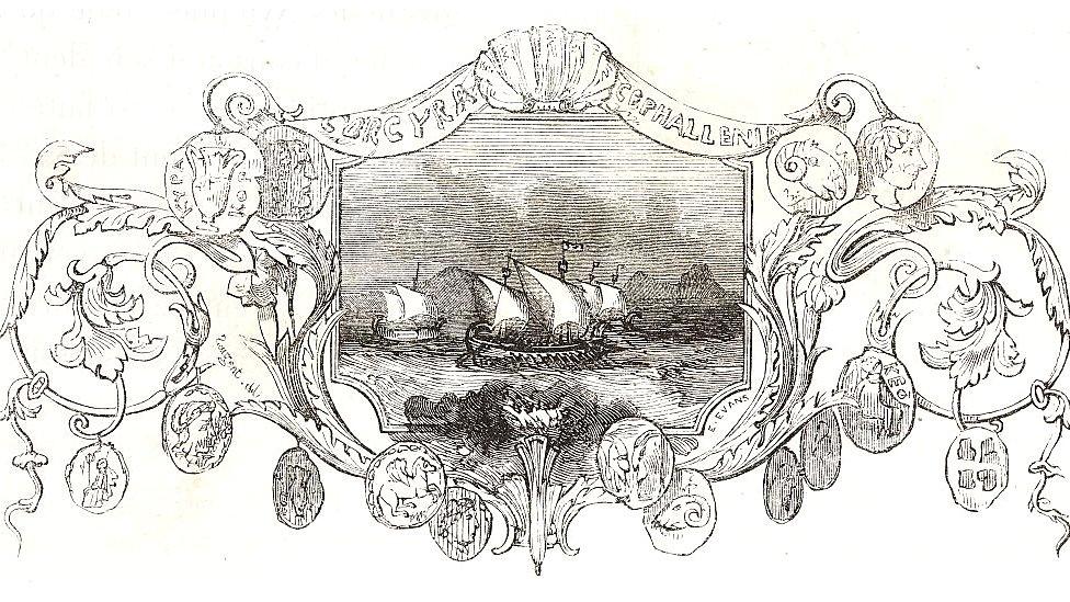 Dibujo de barco con nombre de Cefalonia