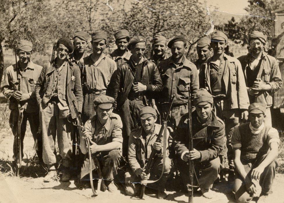 Welsh Volunteers of the XV International Brigade before the Ebro offensive, 1938