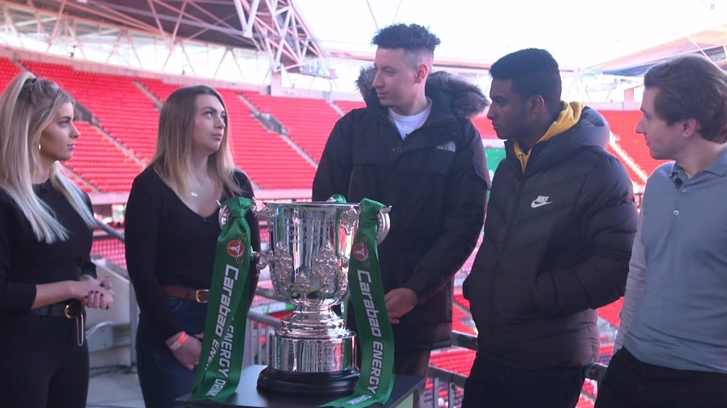 Carabao Cup final 2019: City and Chelsea fans head to head at Wembley Stadium