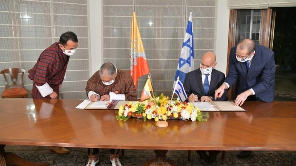 Penandatanganan hubungan diplomatik Bhutan-Israel.