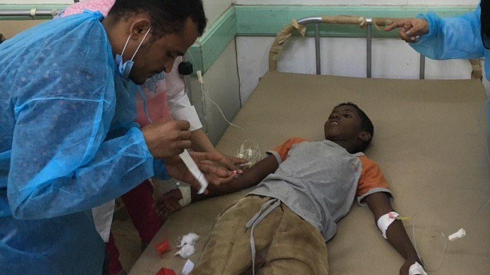 13 year old Hassan got prompt attention in Aden but one person dying every hour from this treatable disease.